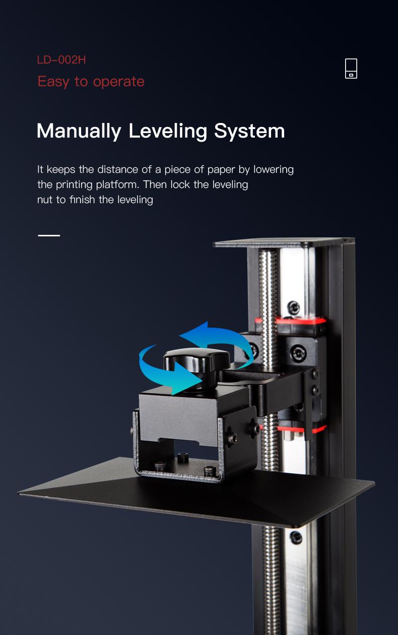 Creality LD-002 handmatige levelling