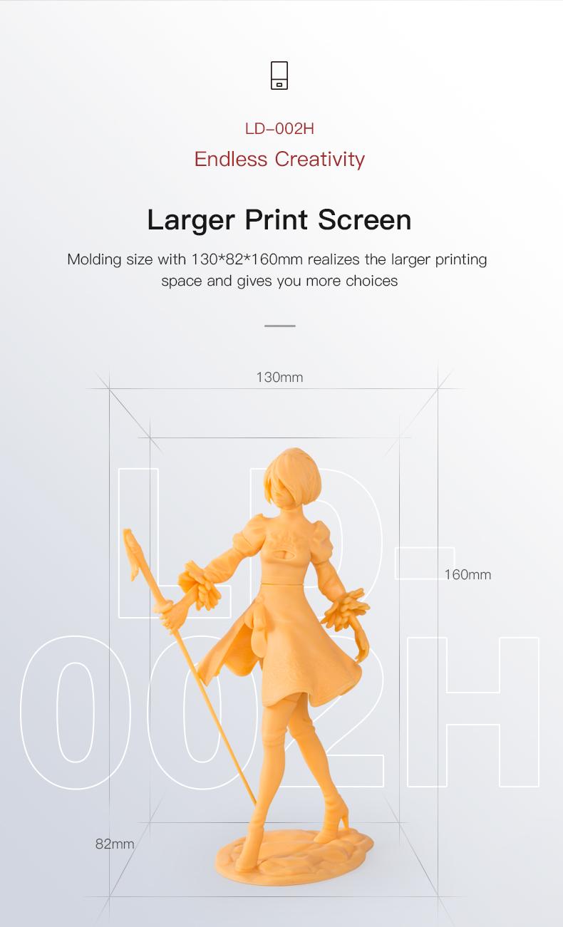 Creality LD-002H groter print volume