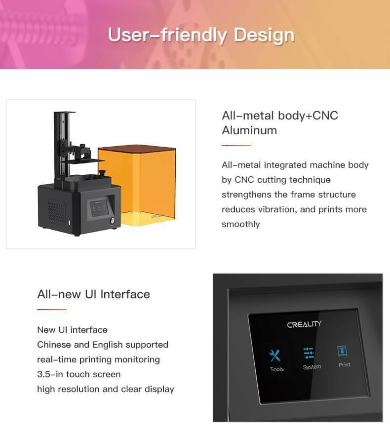 Gebruikersvriendelijk Creality LD-002R