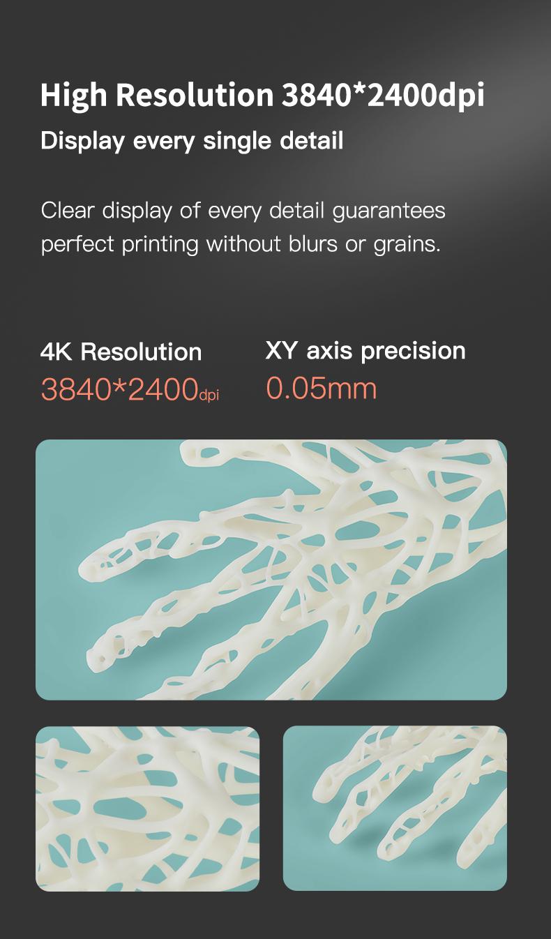 Creality LD-006 4k resolutie-3840x2400dpi; XY-as precisie-0,05 mm