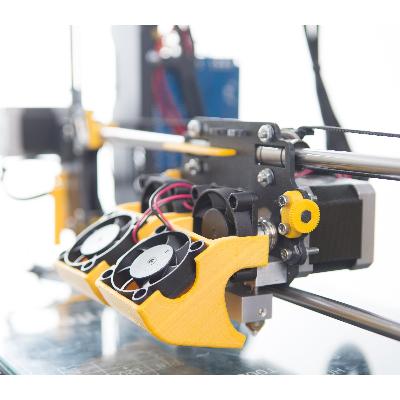helloBEEprusa 3d printer zelfbouw prusa dual extruder Bits2Atoms