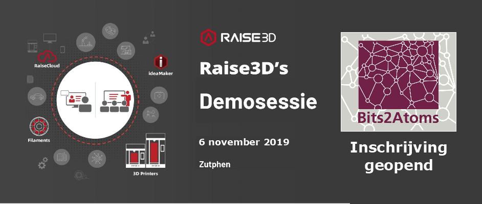 Raise3D Demosessie Bits2Atoms 6 november 2019