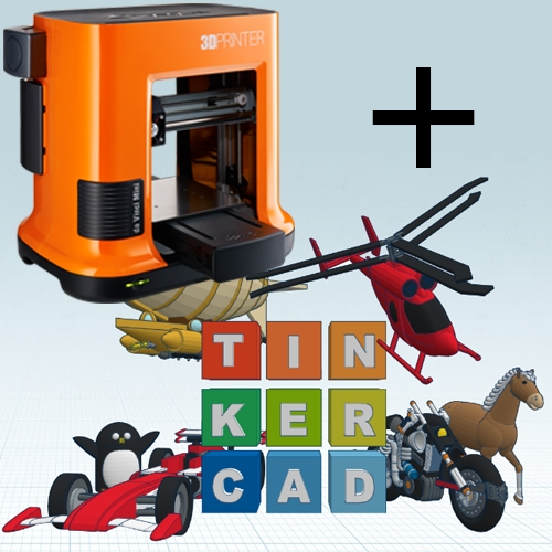 da Vinci Mini 3D-printer met workshop Tinkercad