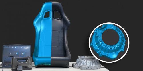 Shining 3D EinScan Pro HD 3D-scanner - donkere en gietmetalen objecten